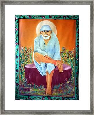 Sirdi Wale Sai Baba Framed Print by M bhatt
