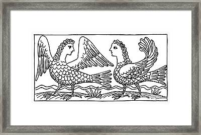 Sirens, Mythological Creature Framed Print by Photo Researchers