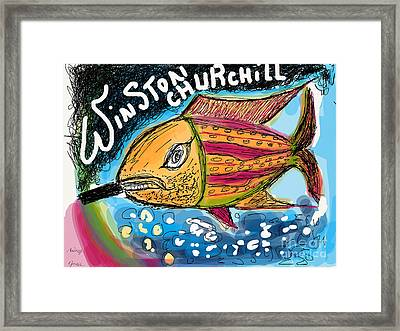 Sir.winston Churchill.   Nonconformist Art -the Young Rebels.  Framed Print by  Andrzej Goszcz