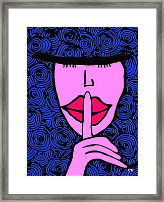Sister Hush Framed Print by e9Art