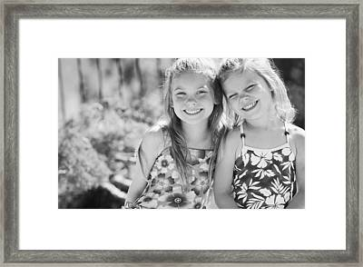 Sister Moment Framed Print by Don Hammond