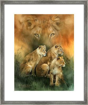 Sisterhood Of The Lions Framed Print by Carol Cavalaris