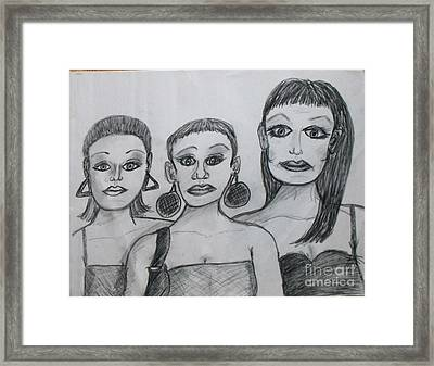 Sisters And Brother Framed Print by Catherine Ratliff