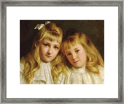 Sisters  Framed Print by Edwin Harris