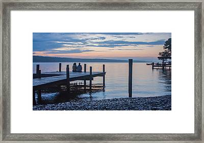 Sisters - Lakeside Living At Sunset Framed Print by Photographic Arts And Design Studio