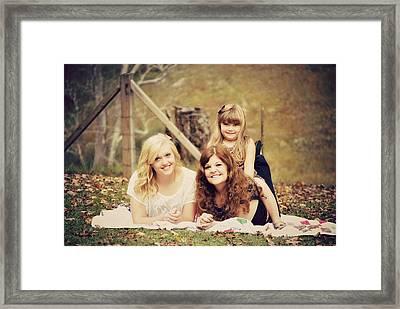 Sisters Making Memories Framed Print by Chastity Hoff