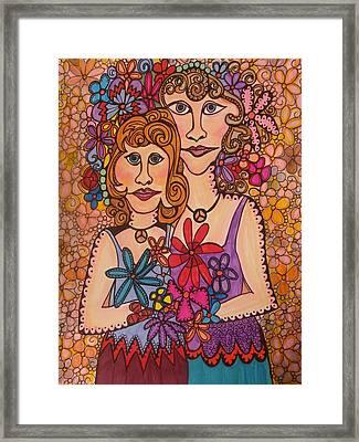 Sisters Of Peace  Framed Print by Gerri Rowan