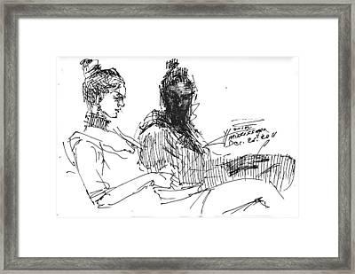 Sisters Framed Print by Ylli Haruni
