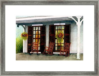 Sit A Spell  Framed Print by Janine Riley