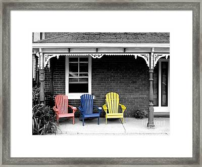 Sit And Relax Framed Print by Michael Swanson