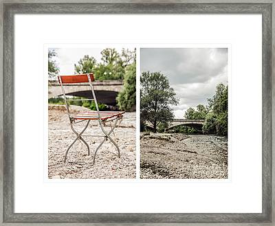 sit down... white I Framed Print by Hannes Cmarits