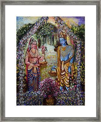 Sita Ram Framed Print by Harsh Malik