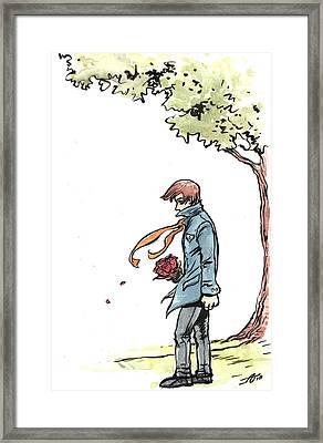 Site Visitor Framed Print by John Ashton Golden