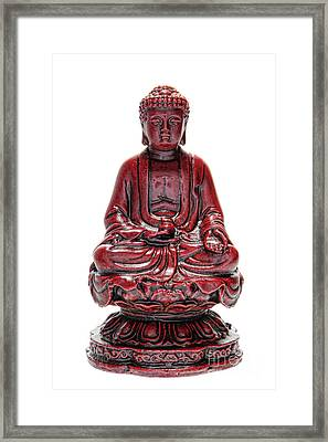Sitting Buddha  Framed Print by Olivier Le Queinec