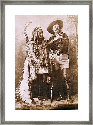 Sitting Bull And Buffalo Bill Framed Print by Unknown