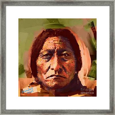 Sitting Bull Framed Print by Arne Hansen