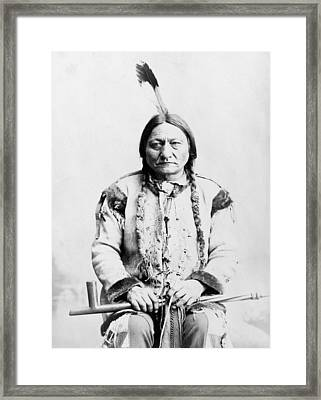Sitting Bull Framed Print by War Is Hell Store
