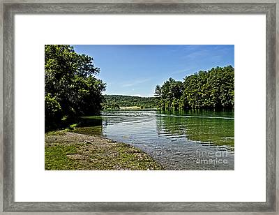 Sitting By The Lake Framed Print by Tom Gari Gallery-Three-Photography