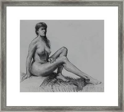 Sitting Figure Framed Print by Ernest Principato