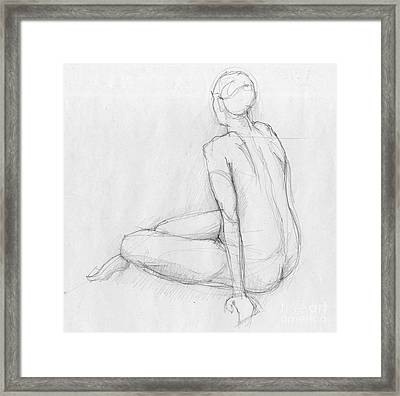 Sitting Figure Framed Print by Peut Etre