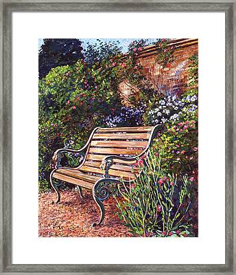 Sitting In The Garden Framed Print by David Lloyd Glover
