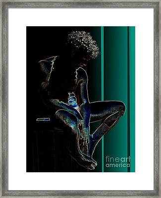 Sitting In The Turquoise Sun Framed Print by Robert D McBain