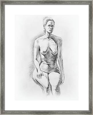Sitting Model Study Framed Print by Irina Sztukowski
