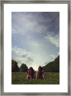 Sitting On The Meadow Framed Print by Joana Kruse