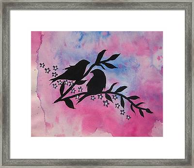 Sitting Pretty Framed Print by Cathy Jacobs