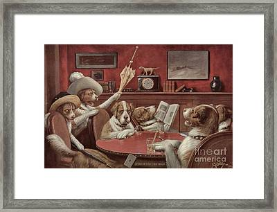 Sitting Up With A Stick Framed Print by Cassius Marcellus Coolidge