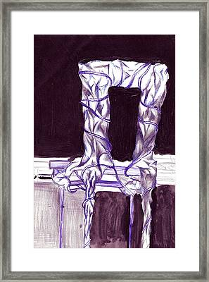 Sitting With The Class  Framed Print by Seb Mcnulty