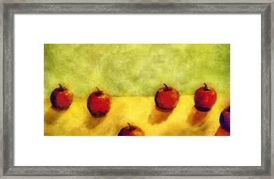 Six Apples Framed Print by Michelle Calkins