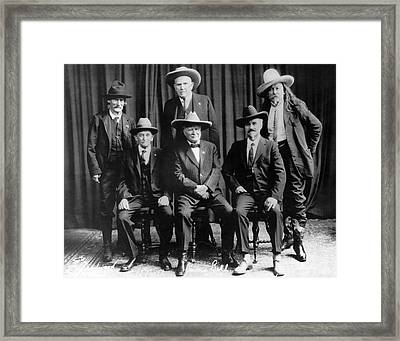 Six Famous Frontiersmen Framed Print by Underwood Archives