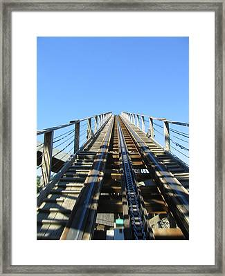 Six Flags America - Roar Roller Coaster - 12121 Framed Print by DC Photographer