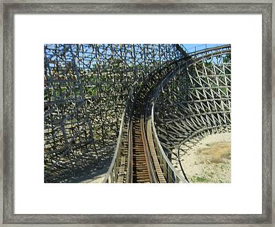 Six Flags America - Roar Roller Coaster - 12125 Framed Print by DC Photographer
