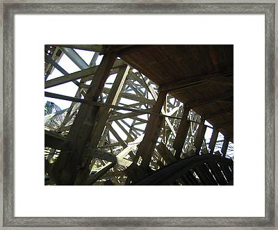 Six Flags America - Roar Roller Coaster - 12126 Framed Print by DC Photographer