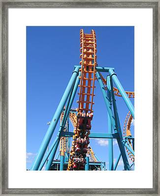 Six Flags America - Two-face Roller Coaster - 12124 Framed Print by DC Photographer