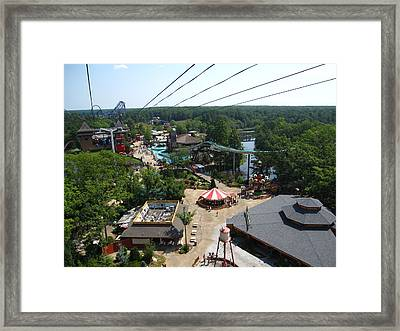 Six Flags Great Adventure - 121211 Framed Print by DC Photographer