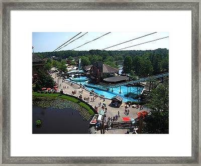 Six Flags Great Adventure - 121213 Framed Print by DC Photographer