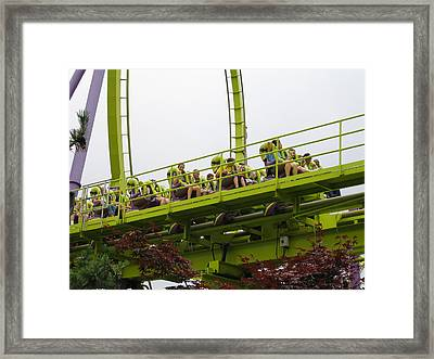 Six Flags Great Adventure - Medusa Roller Coaster - 12121 Framed Print by DC Photographer