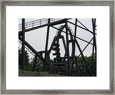 Six Flags Great Adventure - Medusa Roller Coaster - 12124 Framed Print by DC Photographer