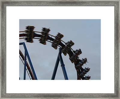 Six Flags Great Adventure - Medusa Roller Coaster - 12126 Framed Print by DC Photographer