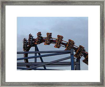 Six Flags Great Adventure - Medusa Roller Coaster - 12127 Framed Print by DC Photographer