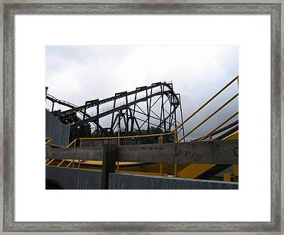 Six Flags Great Adventure - Nitro Roller Coaster - 12122 Framed Print by DC Photographer