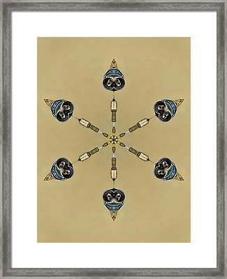 Six Heads Are Better Than One - Ecru Framed Print by Wendy J St Christopher
