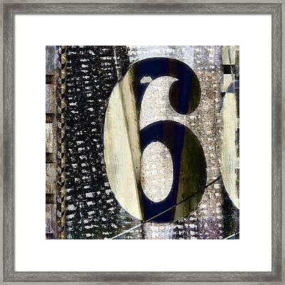 Six On The Line Framed Print by Carol Leigh
