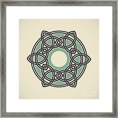 Six Triquetras Mandala Framed Print by Igor Kislev