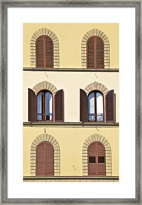 Six Windows Of Florence Framed Print by David Letts