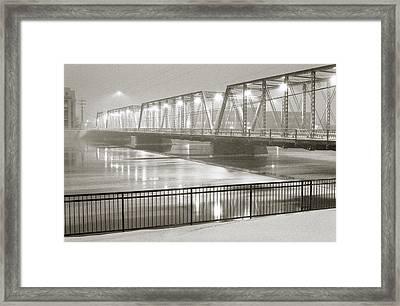 Sixth Street Bridge Framed Print by David Roossien