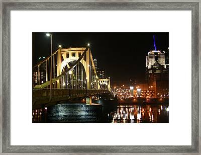 Sixth Street Bridge Framed Print by Sandy Fraser